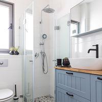 חדר רחצה בסגנון מינימליסטי. עוצב על ידי המעצב <a href='/designers?des_id=2468'>הילה אריאלי</a>
